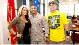 Divas Champion Kaitlyn and John Cena meet a U.S. Marine at The Walter Reed National Military Medical Center.