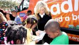 Natalya signs autographs at the We Give Books ReadMobile.