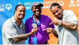The Usos present medals at the 2014 Special Olympics USA Games