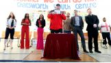 Brodus Clay leads the Be a STAR Pledge.