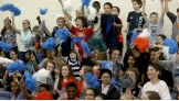 Nearly 300 7th-grade students attend the game.