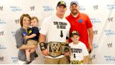 Cena meets the Circle of Champions honoree and his family before Raw in Kansas City, Mo.
