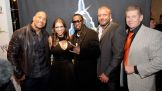 The Rock, Stephanie McMahon, Diddy, Triple H and Mr. McMahon.