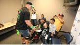 John Cena says hello to Make-A-Wish's Luis.