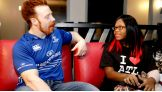 Sheamus meets Juliana before SmackDown in Atlanta.