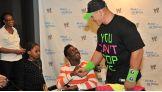 Isaiah, 17, meets his favorite Superstar, John Cena.