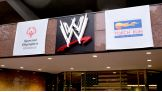 WWE Headquarters in Stamford, Conn., is adorned with signs celebrating the 2013 Special Olympics Connecticut Summer Games and the Law Enforcement Torch Run.