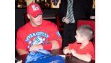 John Cena meets Dante Tortorello of Make-A-Wish Foundation.
