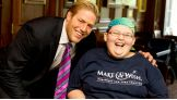 Jack Swagger meets Brandi RedCloud-Owen of Make-A-Wish.