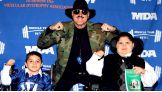 WWE Hall of Famer Sgt. Slaughter joins the MDA Muscle Team annual fundraiser at New York City's Chelsea Piers.