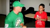 John Cena meets WWE Circle of Champions honoree, Isaiah, before Raw.