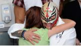 Rey Mysterio is one of many WWE Superstars to visit the kids of Holtz Children's Hospital at Jackson Health System in Miami during WrestleMania Week.