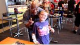 Dylan is all smiles around Theodore Long.