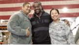 Kofi Kingston smiles with our troops at Manas Air Base.