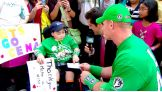 "While on ""Good Morning America,"" Jonathan Littman from Make-A-Wish gets a welcome surprise from John Cena, who comes bearing gifts for the youngster: tickets to Raw's 1,000th episode July 23."