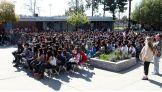 The event takes place at Los Coyotes Middle School in La Mirada, Calif.