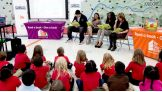 Brodus Clay, Cameron, Naomi and Tennessee First Lady Crissy Haslam read to the students.