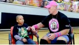 Cena also meets Maurice, who is 8 years old.