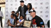 John Cena, Sheamus and Layla host the annual pizza party for the more than 40 children and families from Make-A-Wish Foundation and WWE's Circle of Champions at Jungle Island Saturday in Miami.