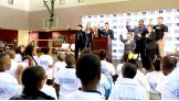 WWE Executive Vice President of Creative Stephanie McMahon joined the Superstars to lead the kids in the be a STAR pledge.