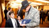 WWE Hall of Famer Sgt. Slaughter is a special guest at the 16th annual MDA Gala at Chelsea Piers in New York City.