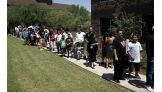 The WWE Universe lined up to meet Superstars and Divas in Scottsdale, Ariz.