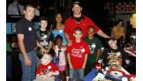 Wish Kids Justin, Zachary and Cody and their families at T.G.I.Friday's.