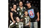 Zachary Shaw, 8, of Hahira, Ga., center, and his family.