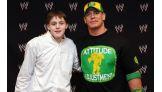 Colin Wilson, 16, of Benson, N.C., with Cena.