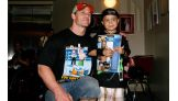 Cena brings a smile to the face of Wish kid Ricardo Arevalo, 7, of Miami.