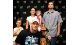 Robert Humphrey, 5, of Indianapolis, and his family meet Cena.