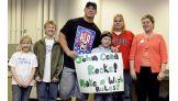 John Cena meets Make-A-Wish's Chase, 6, and his family.