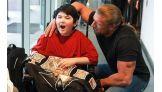 MDA Goodwill Ambassador Max LaCaria, 11, meets The Game.