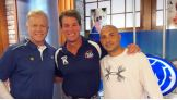 """""""Just had a blast with Boomer & Carton. GREAT guys & fun show. Longtime fan of @7boomeresiason!"""" from @JCLayfield on Twitter."""