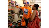 Cena spent time looking around the Kansas City 7-Eleven with the boys.