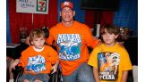 The boys meet Cena after the Cup with a Cause event.