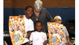 Mysterio met many youngsters from the WWE Universe at the event.