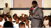 """R-Truth encourages the kids to """"be a STAR: Show Tolerance And Respect."""""""