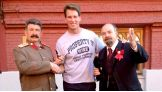 """Thanks to @the_ironsheik for not humbling me! And @howardfinkel @wwe for taking pic with me at Kremlin in Moscow!"""" from @JCLayfield on Twitter."""