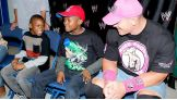 John Cena meets Kaisean before Raw in Bridgeport, Conn.