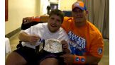 Thomas Macey, 15, meets John Cena in Lexington, Ky.