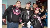 Several Hart Dynasty fans show their support for the Dungeon-trained trio.