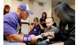 Donivan Sutherland, 5, meets his favorite WWE Superstar.
