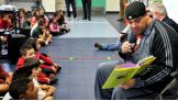 """Brodus Clay reads from """"Stand Tall, Molly Lou Melon."""""""