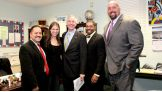 Ayala Jr. and Mayor Finch meet with McMahon and the Superstars.