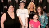 Although she's been in WWE since 2006, this meeting with Jerry and his family prior to the March 5 Raw SuperShow was the first individual wish Kelly has granted – an incredible milestone.