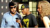 Justin Gabriel meets Circle of Champions honoree Marvial Young.