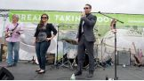 """The Miz introduces The Fake ID Band as part of the """"It's My Park Day"""" festivities."""