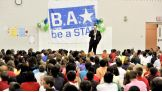 World Heavyweight Champion Sheamus kicks off a be a STAR rally in Toledo, Ohio.