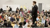 Sheamus talks to hundreds of Whittier Elementary School students in Toledo about the importance of be a STAR.